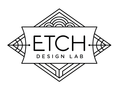Etch Design Lab logo, contracted through Aeolidia