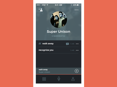Scratch Track Band Profile recording music app ios