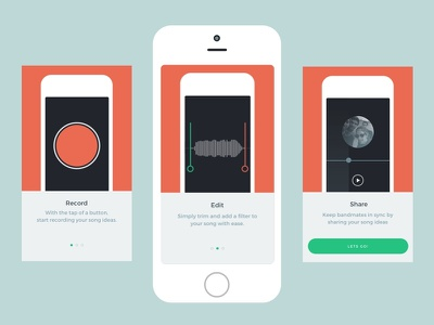 Scratch Track Onboarding app ux ios music scratch track ui clean simple first time ux onboarding