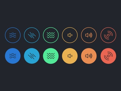 Scratch Track Filter Icons filters audio minimal ios icons