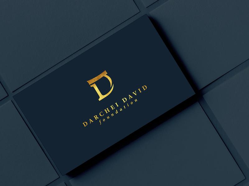Darchei David Foundation Identity minimal vector branding logo design