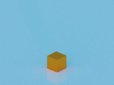 Cube in motion gold blue blender3d modeling blender cube