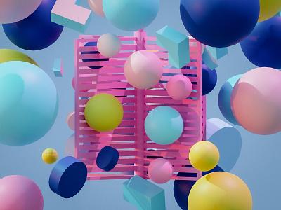 Magic 3d modeling abstract minimal blender