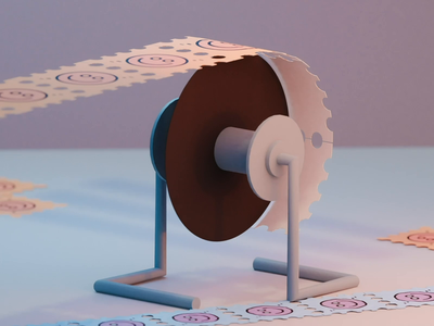 Happy little pill pill happy stamp floor wheel modeling blender paper orange roller lsd