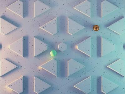 Chasing 🔊 birds loop animation modeling blender mosaic texture rolling ball satisfying