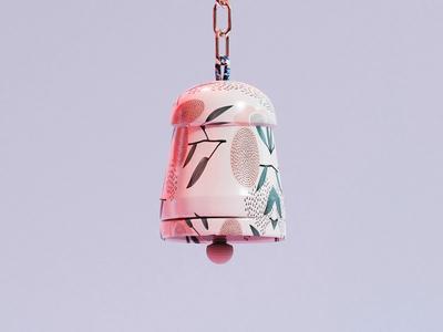 Bell hope temple sounds patterns flower blender3d modeling blender pattern texture sound bell