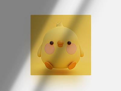 Hey little duck duckling funny ducks blender3d loop animation blender bird cute yellow duck