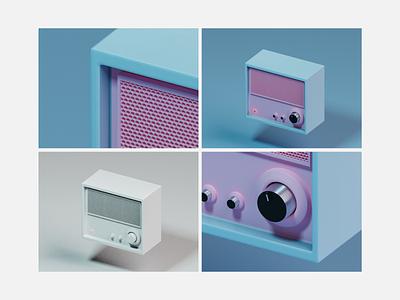 Amplifier soundcloud sound volume grill honeycomb speaker free b3d modeling blender clay minimal controller music