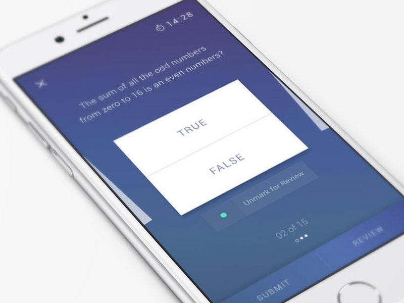 Quiz App [iOS] by Balaji on Dribbble