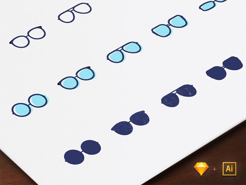 Frames Free Iconset - Sketch and illustrator lineicon glass blue frames freebie icon sketch illustrator ai
