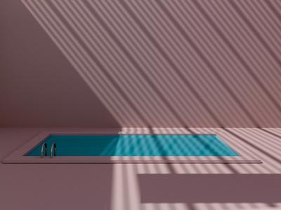 Shadows and swimming pool