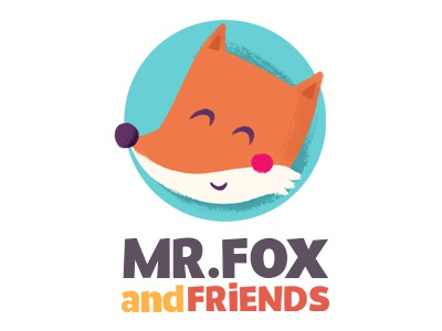 Mr.Fox and friends logo illustration digital ipad app game fox