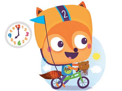 What's the time Mr.Fox? It's time for... app toddler fox kids illustration digital