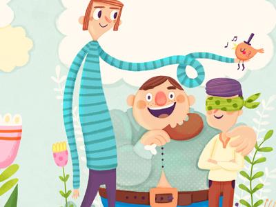 Fairy tale CD cover illustration digital