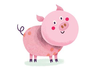 Pig illustration digital ipad app game fox pig