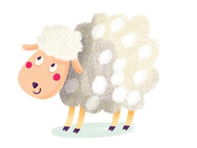Sheep illustration digital ipad app game fox sheep farm animals