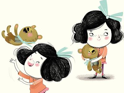 The Nowhere Bear 02 digital character children bear illustration