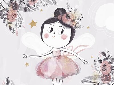 Ballerina ballerina digital children illustration