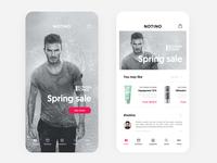 Art Direction / e-commerce app homepage