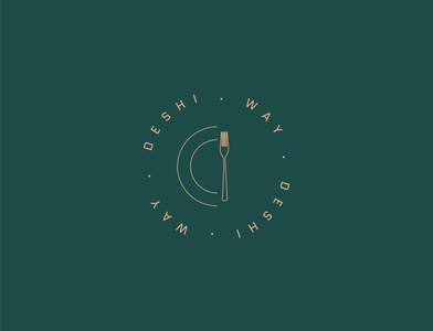 Logo for Deshi Way digital art art direction art designer graphic design adobe adobe illustrator illustrator logo design concept logo logo