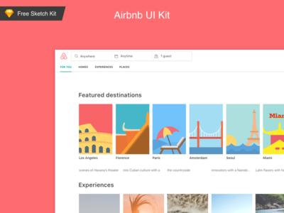 🎁  FREE Airbnb web sketch UI kit visuals dashboard give away free freebie design ui kit ui airbnb