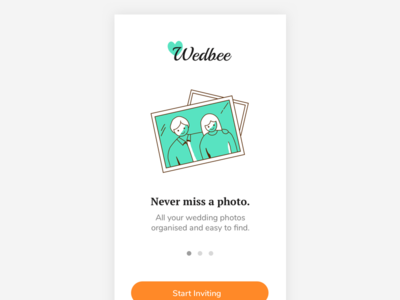 Wedding App Onboarding thumbnail photo sharing mobile app ios ux ui gif cards on boarding wedding