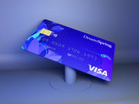 Credit card visa card product design credit card design debit card 3d model credit card