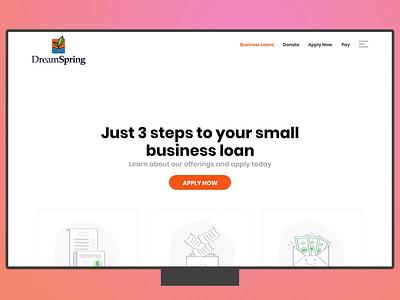 DreamSpring loans page