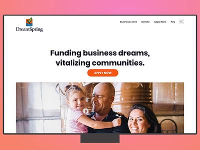 DreamSpring.org landing page icons illustration business fintech finance landingpagedesign landing page ui landing page ui