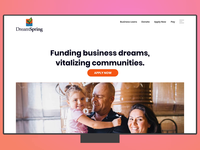 DreamSpring.org landing page icons illustration business fintech finance landingpagedesign landing page ui landing page ui