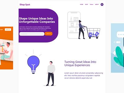 Landing Page logo landingpage illustration design ux