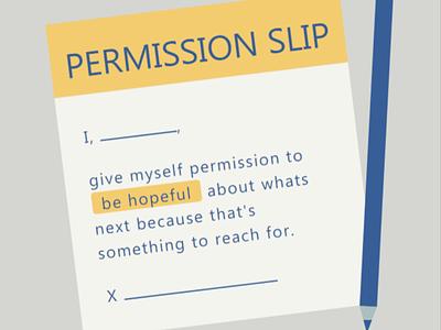 Permission slip typography design ux ui