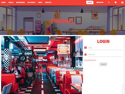 FoodKal web design login form ui ux