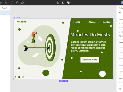 Dreams come through. ui web landingpage illustration design ux