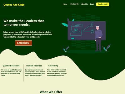 landing page web ui ux design landingpage