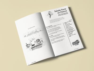 Cookbook layout design vector illustration book cover book art book print design print design typography