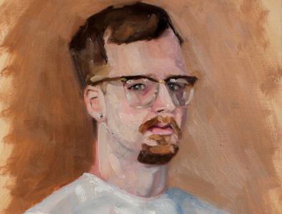 Self Portrait graphic design self portrait oil paint illustration paintings paint fineart art