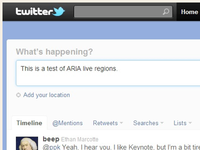 This is a test of ARIA Live Regions
