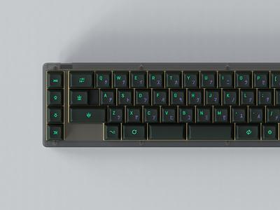 KAT Cyberspace tmov2 keyboard keyshot rendering keycaps