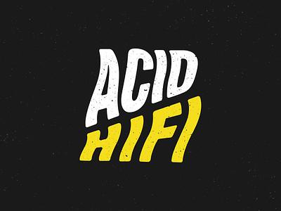 Acid psychedelic wavy logo yellow hifi acid