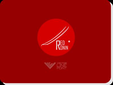 RedRonin inkscape samurai japan ronin vector logo flat design