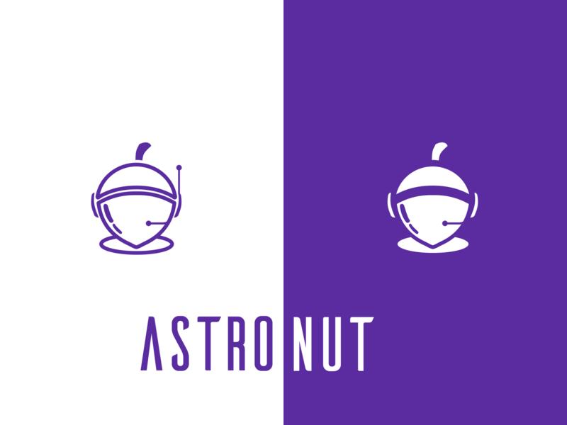 astronut inkscape nuts nut astronaut vector flat logo