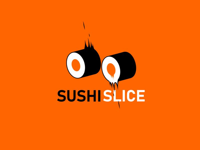 SushiSlice design logo inkscape japan sushi logo