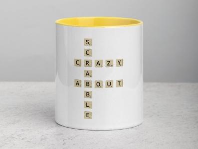 Crazy About Scrabble Mug word scrabble vector design digital illustration illustration product design