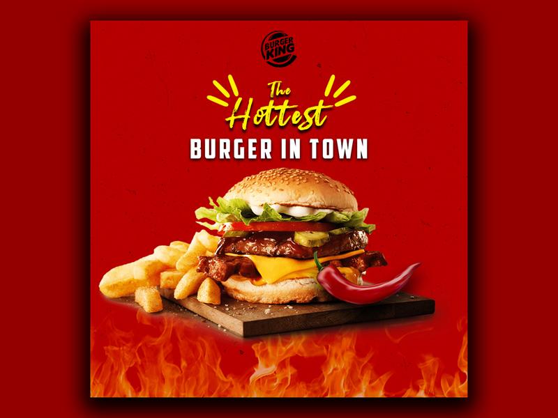 Burger King Poster Design poster burger king graphics design design covid19 coronavirus photoshop dribbble adobe photoshop adobe illustrator adobe