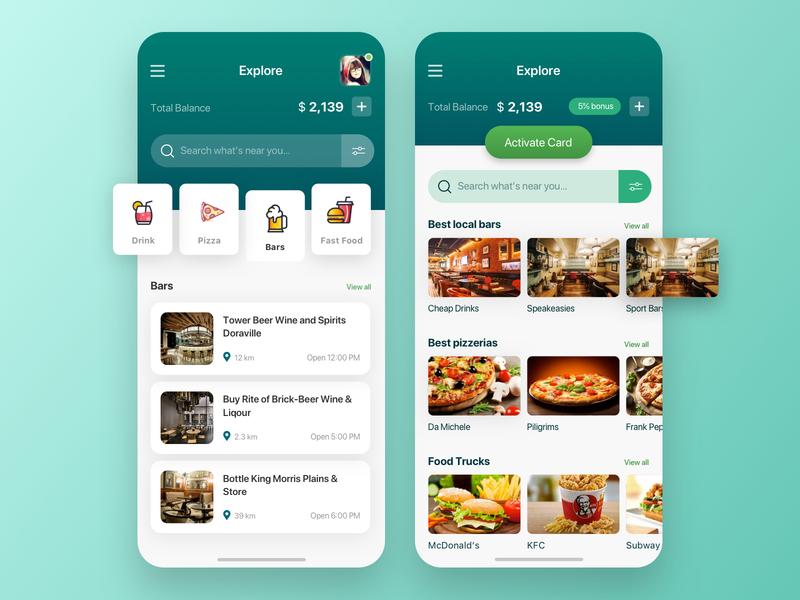 Profitable Offers App Concept concept interface order app design illustration delivery ux ui food delivery food service design offer food eat app