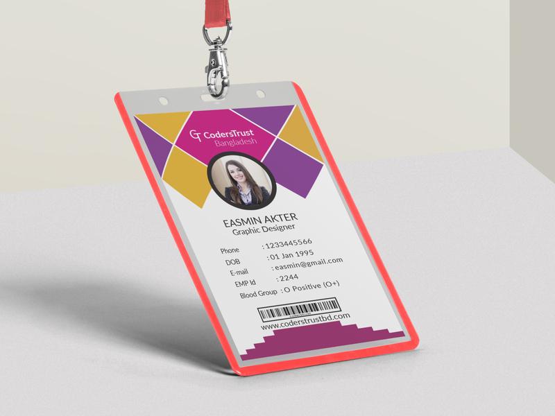 ID Card DESIGN employer id card employer id card exhibitor pass id exhibitor pass id employee id card corporate id card identity card adobe photoshop adobe illustrator graphics graphics design professional design id card design id card