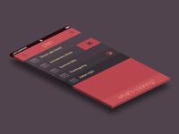 Tique-toque menu lists screen