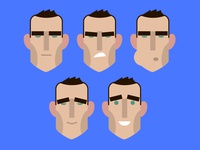 Vinnie Jones Heads for an animation