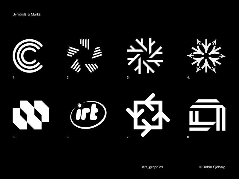 Experimental - Symbols & Marks letters logomark designer dribble icon graphicdesign symbols logotype logo